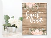 Wedding  Guest Book -  Metal Wall Sign